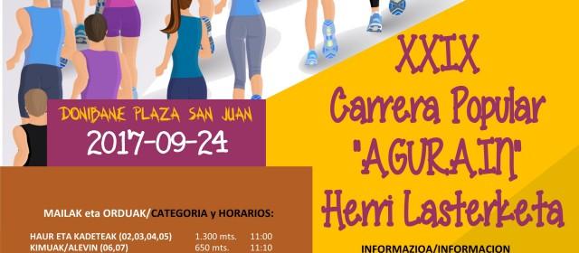 XXIX CARRERA POPULAR AGURAIN HERRI LASTERKETA